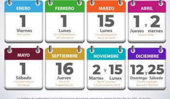 Calendario de días inhábiles bancarios